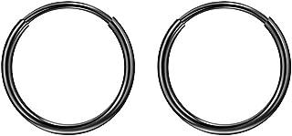 316L Surgical Steel Endless Hoop Earrings with 16g Tube...