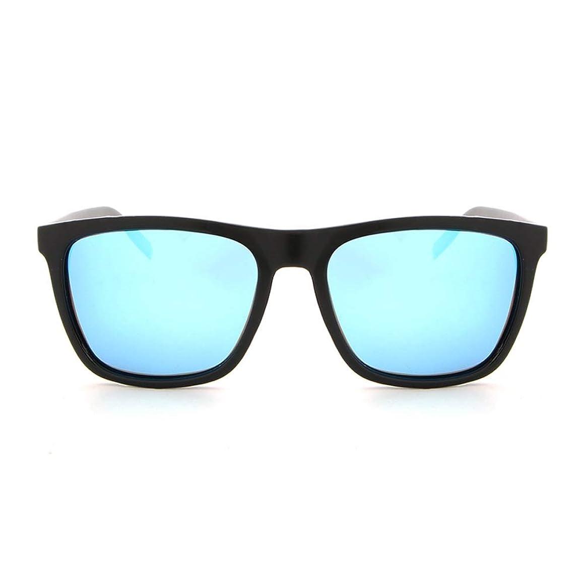 悲惨な仕えるストリップYHWJP サングラス メンズ 紫外線防止 清晰 安全 アウトドア 運転用 クラシック メガネケース (Color : E ブルー, Size : フリー)