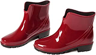 Fancyww Women's Ladies Shiny Short Ankle High Rain Winter Boots Booties
