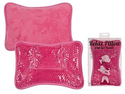 Pinkfarbenes Kissen mit Gelkugeln ca. 24 x 16 cm, zum Kühlen und Wärmen # 10/5318