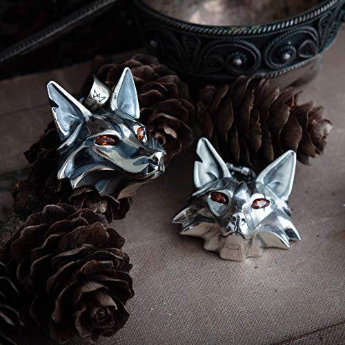 Handmade Fox medallion, school of the Fox, fox head, monster hunter