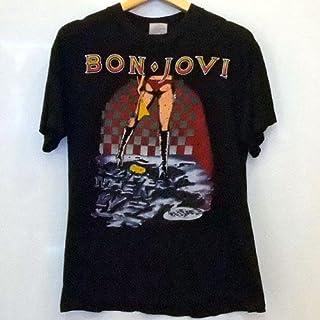 BON JOVI ボン・ジョヴィ (デビュー35周年記念) - お宝1点品 1986 LET IT ROCK(古着ヴィンテージ) / バックプリントあり/Tシャツ/メンズ 【公式/オフィシャル】