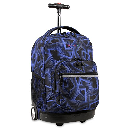 J World New York Sunrise Rolling Backpack, Disco