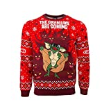 Numskull Unisex Official Gremlins Knitted Christmas Jumper for Men or Women - Ugly Novelty Sweater Gift