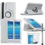 VCOMP® Etui Coque Housse avec Support Et Rotation 360° en Cuir PU pour Samsung Galaxy Tab 3 7.0...