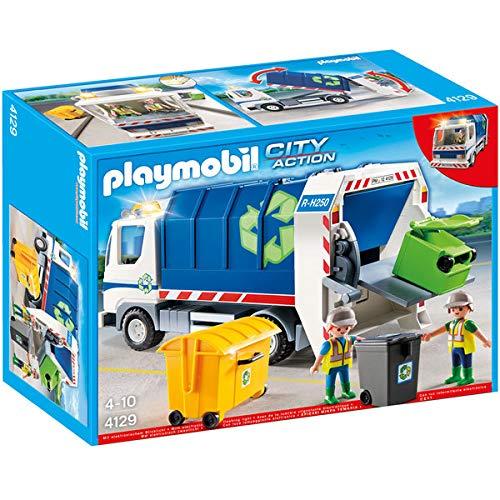 Playmobil Difficile À Trouver - 4129 Camion De Recyclage avec Lumières