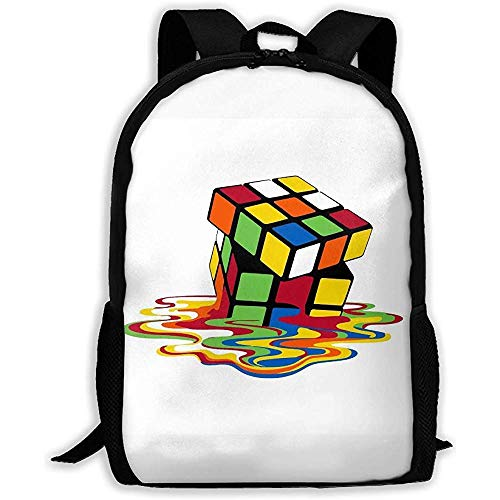 Fantasy Town Cube Art Print Adult Rucksack Reiserucksack Business Taschen Student Lightweight Laptop