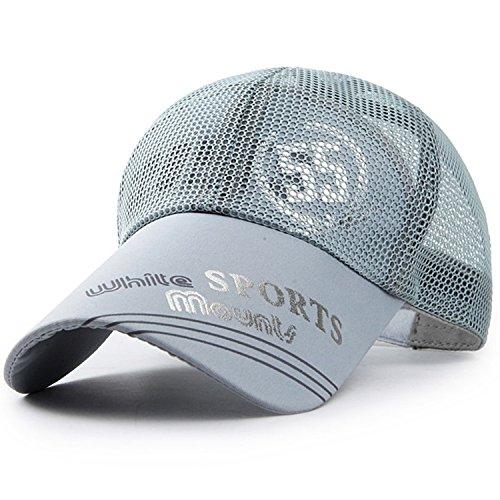 Baby-mine(ベイビー マイン)baby-mine (ベイビーマイン) メッシュ キャップ ロゴ カジュアル つば長 野球帽 帽子 アウトドア 釣り ゴルフ 通気性 メンズ (グレー)1.グレー