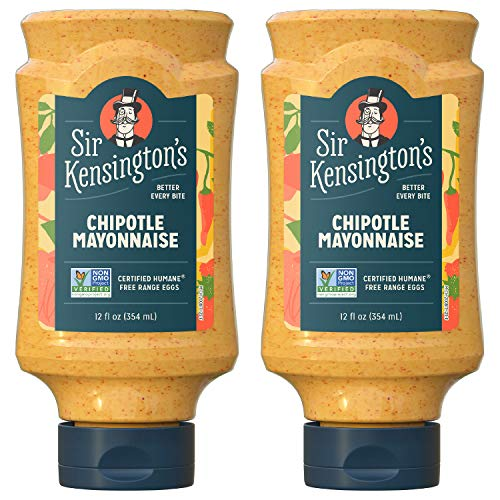Sir Kensington's Mayonnaise, Chipotle Mayo, Gluten Free, Non- GMO Project Verified, Certified Humane Free Range Eggs, Shelf-Stable, 12 oz pack of 2