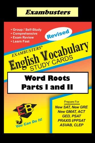 Exambusters English Word Roots--Vocabulary Flashcards: SAT, ACT, GRE, PRAXIS (English Edition)