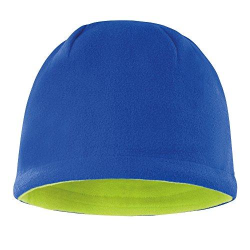 Result - Bonnet Polaire réversible - Adulte Unisexe (Taille Unique) (Bleu Roi/Vert Citron)