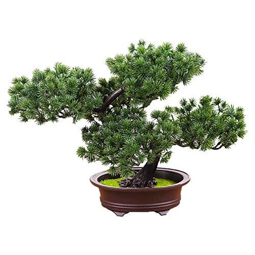 NYKK Planta Artificial Pequeño árbol de Bonsai Artificial en Pot Planta Artificial, Pantalla Interior y Exterior, Decoración de Hogar y Jardín, Verde Plantas de Interior Artificiales (Color : B)