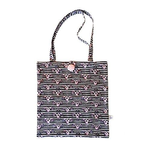 Shopper XXL * Einkaufstasche*Shopper XXL * Einkaufstasche* Henkeltasche * fair wear * - verschiedene Motive nach Wahl (50x55, stripey mit rosa Kranich)