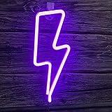 Luces LED de neón con luces LED USB o con pilas Lámpara de iluminación LED para colgar en la pared, sofá, decoración para bar, fiesta, hogar, habitación de niños, festival, Navidad, boda, (morado)