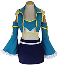 Huancos Cosplay Costume Blue 7 Years Later Party Dress Outfit US Size
