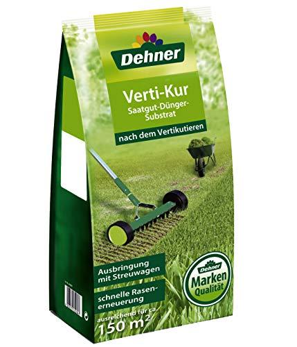 Dehner Rasen Vertikur 3-in-1, Saatgut, Dünger und Substrat, 5 kg, für ca. 150 qm
