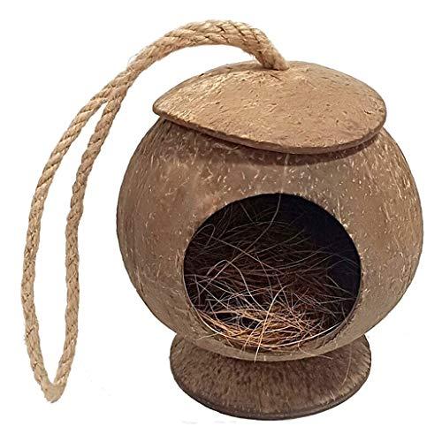 Xu Yuan Jia-Shop Jaula de Pájaros Bird House Pet Habitat 100% Material ecológico Nido Hermoso Nido Natural Textura de cáscara de Coco Natural Espaciosa Jaula (Color : C)