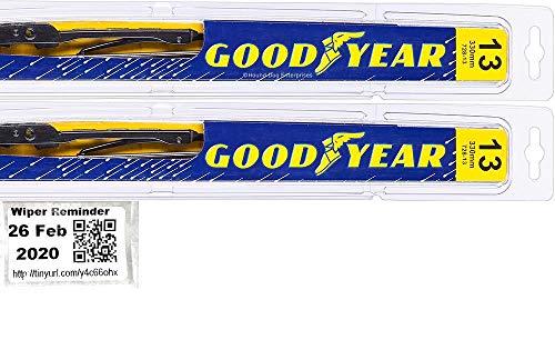Windshield Wiper Blade Set/Kit/Bundle for 2005-2006 Jeep Wrangler - Driver & Passenger Blades & Reminder Sticker (Premium)