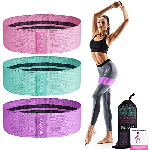 RENOOK-Booty-Bands for Women 3 Resistance Levels for Legs and Butt