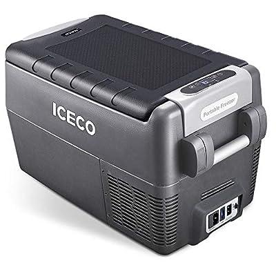 ICECO JP30 Portable Refrigerator, 12V Car Fridge Freezer, 31 Liters Compact Refrigerator with Secop Compressor, for Car & Home Use, 0??50?, DC 12/24V, AC 110/240V