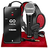 TC-Helicon GO VOCAL Microphone Preamp for Mobile Devices + SR360 Over-Ear Dynamic Stereo Headphones, Samson R21S Cardioid Handheld Microphone & Fibertique Microfiber Cleaning Cloth