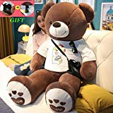 ZEIYUQI Large Plush Bear 100 cm - 200Cm   Giant Birthday Gift XXL Large Plush Teddy Bear Toy,C,180CM