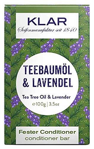 Klar Seifen fester Conditioner Teebaumöl & Lavendel, 100 g