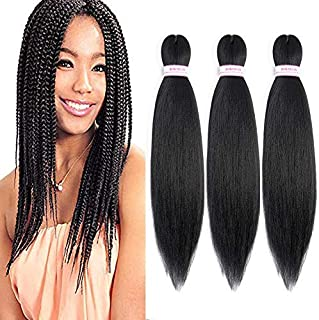 Pre Stretched Braiding Hair 8 Packs Yaki Texture Crochet Braiding Hair Extension Itch Free Hot Water Setting Low Tempreture Kanekalon Synthetic Fiber (14