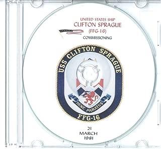 USS Clifton Sprague FFG 16 1981 Commissioning Program CD