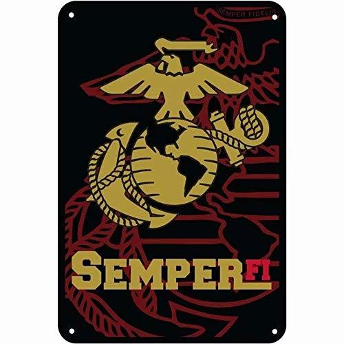 Señal de Advertencia Semper Fidelis/Marines Semper fi 8'x12' Funny Decorative Metal Tin Sign Manhole Wall Poster PP-42 Señal de tráfico rótulo de establecimiento