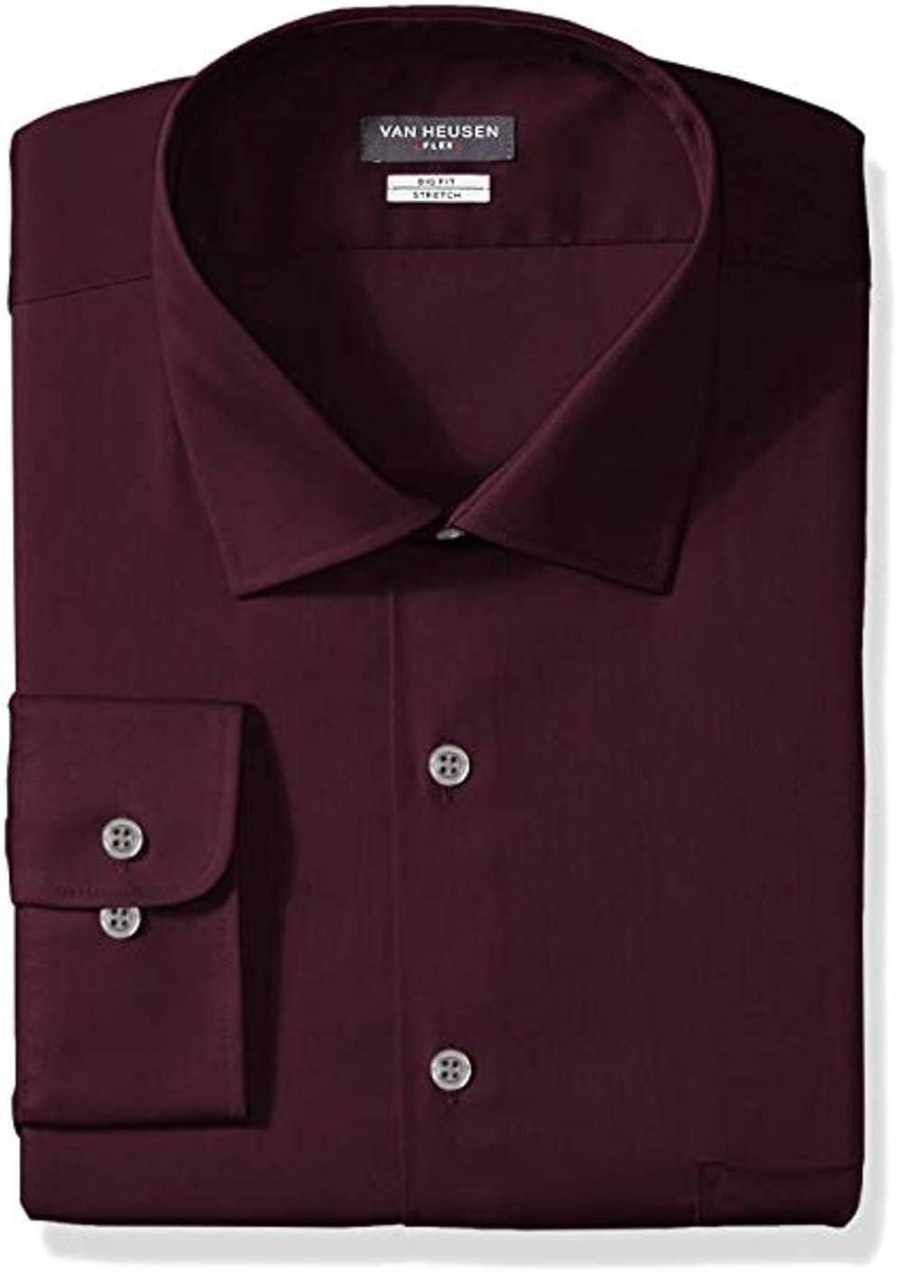 Van Heusen Men's Tall Dress Shirt Big Fit Flex Solid