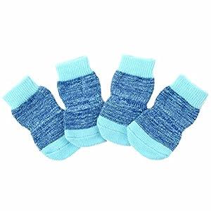 Etosell 4pcs Chaussettes en Coton Tricotés 4 Couleurs pour Petit Chien S M L XL