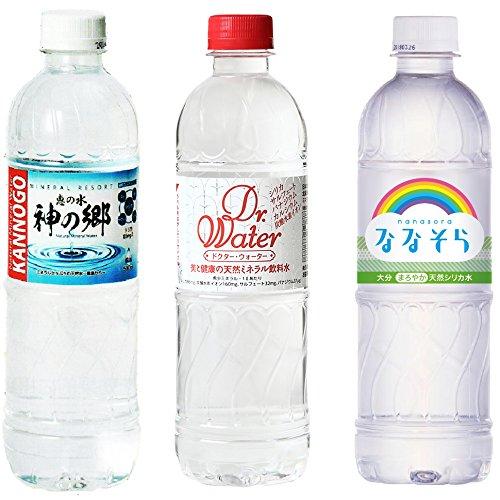[3種類]シリカ水組合せ24本セット (ドクターウォーター/神の郷/ななそら)の詳細を見る