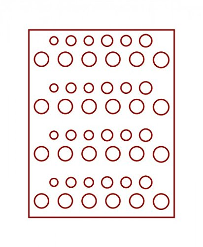 LINDNER Das Original Box Monnaies FUMÉ pour 4 séries DM courantes