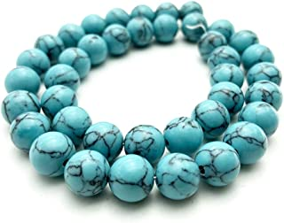 REBUY® 8 mm Turquoise Crystal Energy Stone Round Loose Beads Natural Stone Beads for Jewelry Making