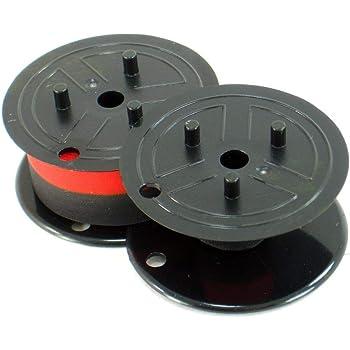 2 PACK Sharp CS-1680 CS-1780 CS-1800 Calculator Ink Ribbon Black//Red