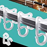 BININBOX 100 Pieces Christmas Light Clips Outdoor Hang Gutter Hooks for Christmas Decoration String Lights Weatherproof Gutter Lights Clip for Halloween Christmas Outdoor Decoration