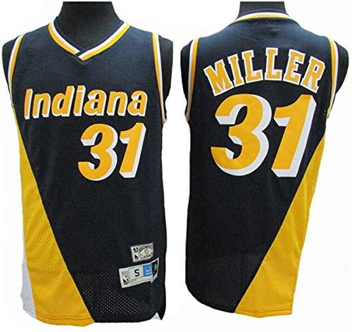 GIHI Camiseta NBA - Indiana Pacers NBA 31# Camisetas Reggie Miller - Camiseta Cómoda Unisex con Chaleco Deportivo De Baloncesto,A,S(165~170CM/50~65KG)