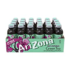 Arizona Green Tea - Ginseng and Honey is an all-natural tea Infused with ginseng and sweetened with Sue Bee Premium Orange Honey Great for concessions and vending machines
