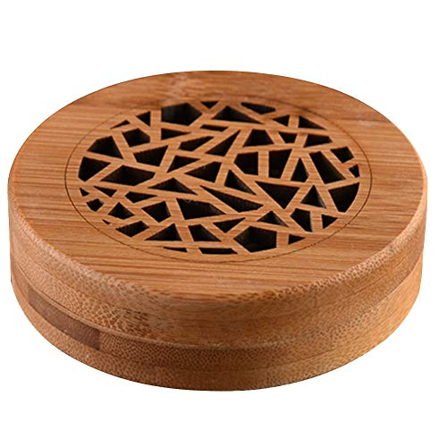 Beada Quemador de Incienso de Bambú, Soporte de Incienso en Espiral, Incensario de Bambú Hueco CláSico de MeditacióN para Oficina Casa (Grieta de Hielo, 1 Pieza)