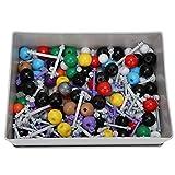 Tutorial educativo de química, 267 piezas Kit de estructura orgánica molecular inorgánica Atom Link Model Set para estudiantes y profesores