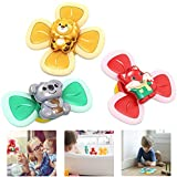 Kumary Suction Cup Spinning Top Toy,3PCS Spin Sucker Spinning Top Spinner Toy, Safe Interesting Table Sucker Gameplay Early Learner Animal Toys Baby Bath Toys Baby Toys & Gifts