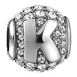 Soufeel Lettre K Alphabet Charm en Argent Sterling 925 Cristaux Swarovski pour Femme...