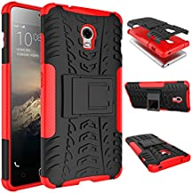 Case Lenovo VIBE P1 360° Full Body PC 2 in 1[with Tempered Glass Screen Protector 2 pieces high quality] Shockproof Double Protection Phone Cover Protective Skin Case for Lenovo VIBE P1 (Red)