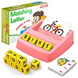 HahaGift Educational Toys for 2-5 Year Old Girl Gifts, Matching Letter Learning Games Activities,...
