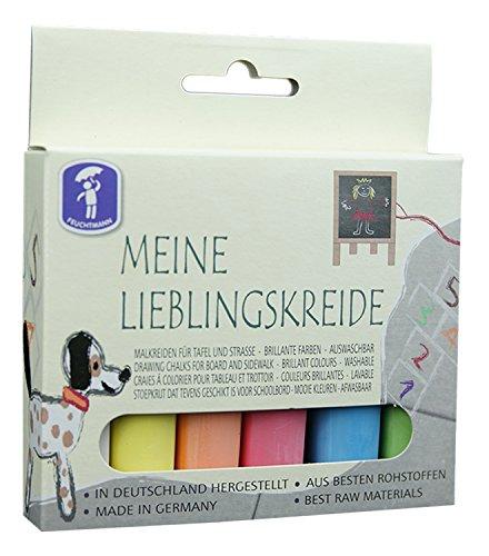Feuchtmann Spielwaren 6575000 - MEINE LIEBLINGSKREIDE brilliante Kreide für Straße und Tafel, 6 Stangen