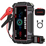 AVAPOW Car Jump Starter 2000A Peak 16800mAh Jump Boxes for Vehicles(Upto 12V 8L Gas/6.5L Diesel Engine) Equipped Fast Wireless Charging and USB QC 3.0 with 400 Lumen LED Jump Starter Battery Pack