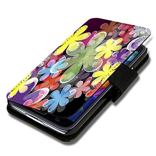 Book Style Flip Handy Tasche Hülle Schutz Hülle Foto Schale Motiv Etui für LG L Bello - A52 Design3
