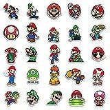 Super Mario Sticker 100 unids/lote personalizado coche pegatinas clásicos juegos Super Mario equipaje etiqueta trolley casenotebook maleta impermeable