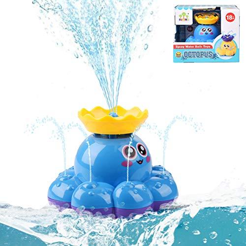 Herefun Kinder Badezimmer Spielzeug, Baby Badespielzeug, Wasserspielzeug, Wasser Baby Badespielzeug, Schwimmendes Badewanne Spielzeug, Spray Wasser Krake für Baby, Kleinkinder, Kinder